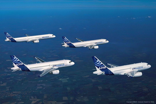 空客a320系列飞机创造民航历史飞机销售纪录