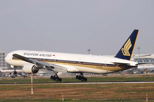 新加坡航空上海直飞新加坡航班将达每天五班