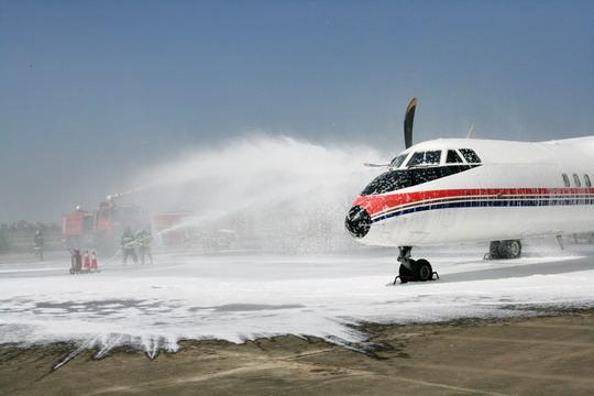 武汉天河机场应急救援联合演练取得圆满成功