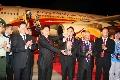 奥运会圣火抵达三亚 凤凰机场完成保障工作