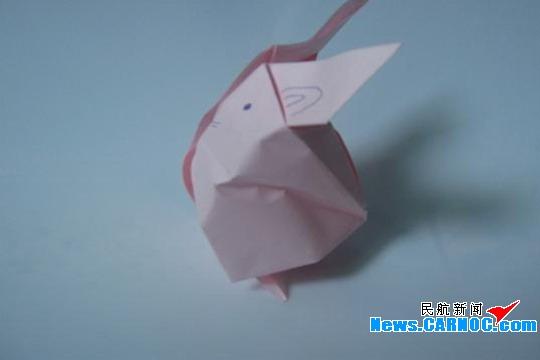 折纸话筒花图解