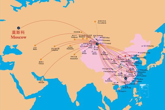 西安城区手绘认知地图