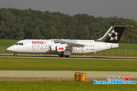 一架瑞士客机在伦敦起飞时遭遇鸟撞紧急返航