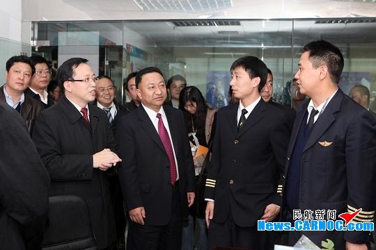 副市长张思平赴深航调研:发展态势稳定良好