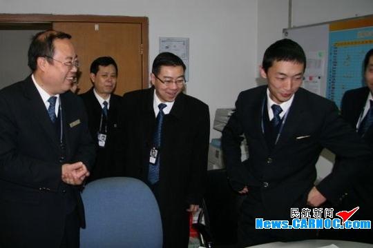 国航西南地面服务部领导春节前慰问一线员工