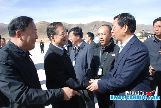 李家祥再赴玉樹機場指導抗震救災和恢復重建