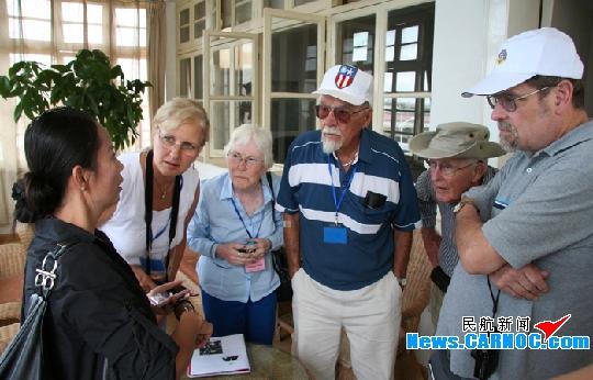 美国二战老兵游昆明巫家坝参观第一代候机楼