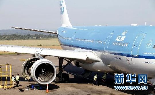 荷兰皇家航空公司一架空客飞机在乌干达迫降