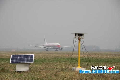 青岛流亭机场飞行区安装语音超声波驱鸟系统