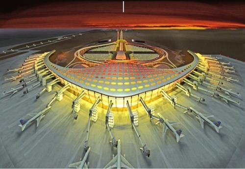 图1:合肥新桥国际机场建成效果图.