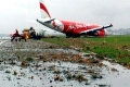 亚航一飞机滑出跑道 古晋国际机场被迫关闭