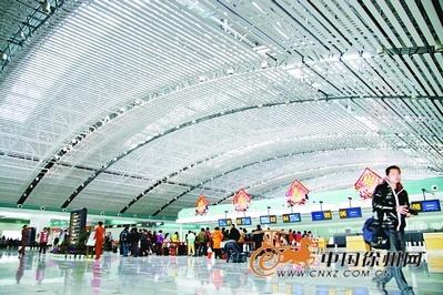 徐州观音机场候机楼改建基本完工 现代气派