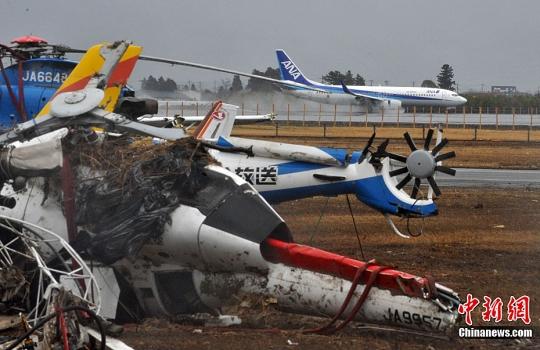 【组图】日本仙台机场部分恢复民航航班起降