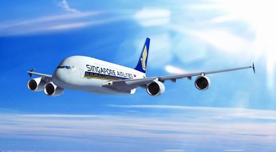 图:新加坡航空公司A380客机将执飞新加坡——法兰克福——纽约航