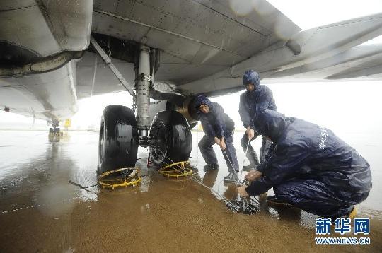 """""""納沙""""來襲 海南機場航班大面積受到影響"""