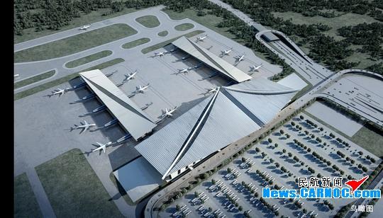 厦门机场新候机楼22日奠基 预计2014年完工
