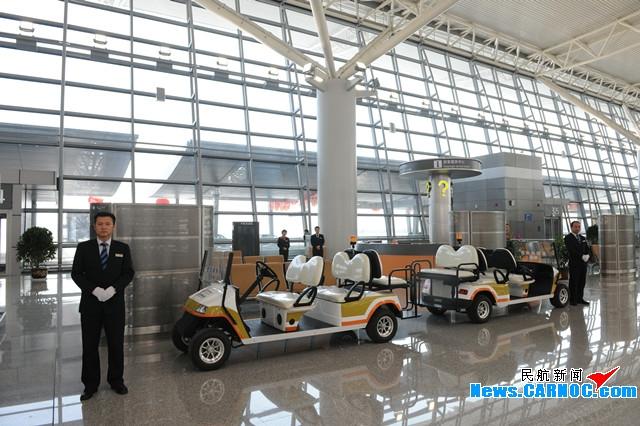 图1:咸阳机场T3A航站楼内旅客特殊需求设施一应俱全.摄影:奥斌-