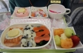 A Hello Kitty-themed in-flight meal is seen inside an Eva Airlines aircraft in Taoyuan International Airport, northern Taiwan, April 30, 2012. REUTERS/Pichi Chuang