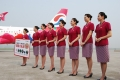 """Chongqing Airlines' """"Happy Chongqing"""" Aircraft Airbus A320 made its first flight on June 14, 2012."""