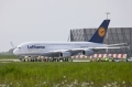 Lufthansa A380 is rolled to the delivery centre at the end of the ceremony. Source: Airbus S.A.S.