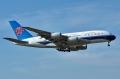 """图:中国南方航空B-6136号A380客机,中国首架A380客机,2011年10月17日执行首个商业运营航班。<a href=http://pic.feeyo.com target=_blank>民航图库</a>图片,摄影:民航资源网网友""""<a href=http://pic.feeyo.com/photo.jsp?userid=483971 target=_blank>wi777</a>""""。(浏览作者图库原帖《<a href=http://pic.feeyo.com/posts/546/5464641.html target=_blank>[原创]论坛首发!!中国南方航空A380飞抵首都国际机场!!!高清大图</a>》)"""