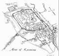 飞虎队当年绘制的昆明城区鸟瞰图