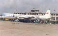80年代初,伊尔-18型飞机等待旅客登机