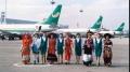 巫家坝机场民族姑娘与空姐