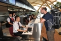 A foreign passenger checks in for his flight. (Xinhua/Lin Yiguang)