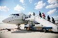 国内第一架世袭1000超大型公务机首飞喀纳斯