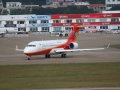 On Nov. 11, China's homegrown ARJ21 regional jet made a preshow domonstration flight for the 9th China International Aviation & Aerospace Exhibition (Airshow China 2012) which has been held from Nov. 13-18 in Zhuhai. Photo by CARNOC.com/chenchang
