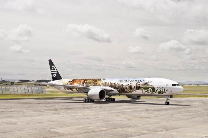 新西兰航空揭晓《霍比特人1》主题客机涂装