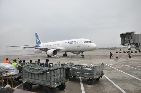 白云機場運指中心保障老撾航空廣州萬象首航
