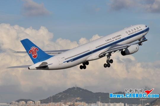 """图1:南航空中客车a330飞机 摄影:民航资源网网友""""图片"""