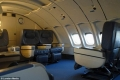 Unique experience: Some of the original seating from when the Boeing was still in action remains on board.