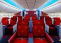 The business class seats in a 2-2-2 configuration. Photo/Hainan Airlines