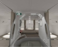 Cabin crew's rest area with 6 beds. Photo/Hainan Airlines