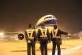 【图集】南航2012年最后一个航班班平稳落地