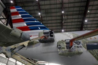 The tail seems to be many folks least favorite part of the livery. Not quite sure why. Image from American.