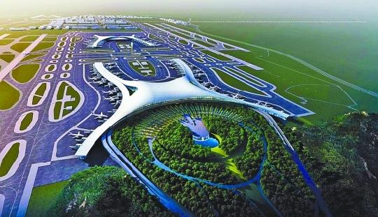 图:重庆江北国际机场t3a航站楼方案效果图.重庆市规划局供图