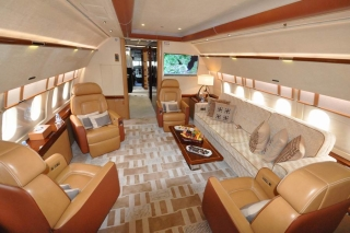 Acropolis ACJ319 Forward Lounge<br>The National Business Aviation Association's yearly industry gathering will feature the presence of an Airbus Corporate Jetliner ACJ319 operated by the UK's Acropolis Aviation (October 6, 2011) Photo from Airbus