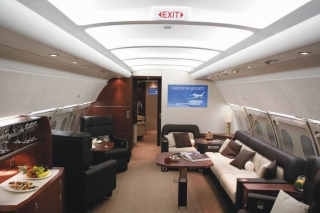 A318Elite Private_Lounge1<br>The first A318 Elite with its VIP cabin has been delivered to Comlux, a Zurich-based air charter company (May 10). Photo from Airbus