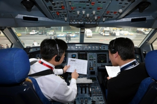 China Eastern captains were making preparation for the test flight