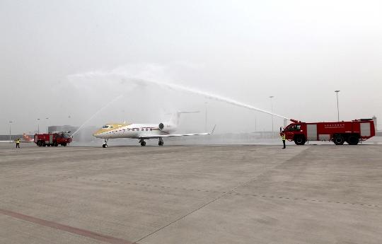 四川縱橫航空第一架公務機灣流G450落戶成都