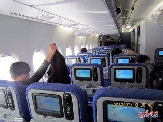 第一次乘坐南方航空A380 乘客的笑容最难忘