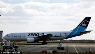 The Airbus A330 Zero-G on the tarmac at the Bordeaux-Merignac airport in France