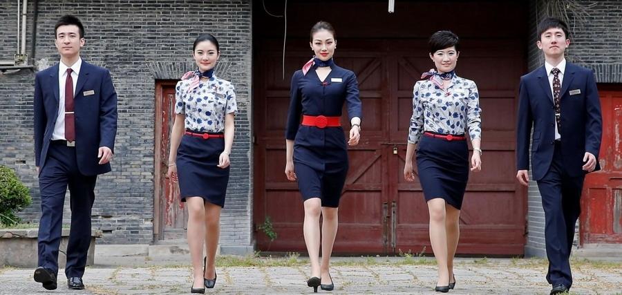 photos: china eastern unveils new uniform