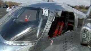 飞机汽车的外观。