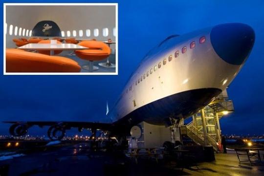 """退役波音747华丽转身 变瑞典""""机场旅馆"""""""