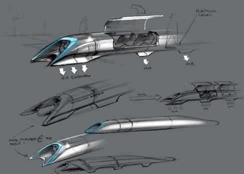 富豪设计真空高铁胶囊秒杀飞机 时速1126公里